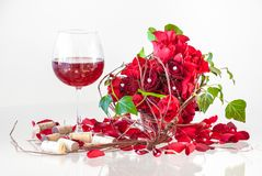Romantic Valentine`s Day Composition stock images