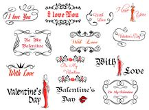 Romantic and Valentine's Day headers Royalty Free Stock Images