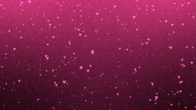 Romantic Valentines Day Animation. Hearts moving up background. Set of hearts and particles seamless moving up. Perfect to use in motion graphics project stock video