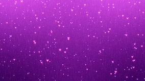 Romantic Valentines Day Animation. Hearts moving up background. stock video footage