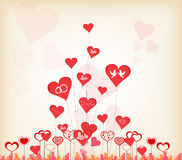 Romantic valentines day background Royalty Free Stock Photos