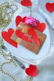 Romantic Valentines Day dinner for a ladykiller Royalty Free Stock Photography