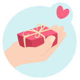 Romantic Valentines gift Royalty Free Stock Photo