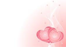 Romantic vector background Stock Photos