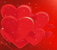 Romantic vector background Stock Photography