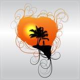 Romantic vector background Stock Image