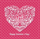 Romantic Vector Background with a Heart. Stock Images