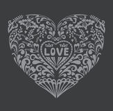 Romantic Vector Background with a Heart. Stock Image