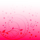 Romantic vector background with space for text Royalty Free Stock Photos