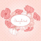Romantic vector card Royalty Free Stock Images