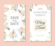 Romantic vector cards template vector illustration