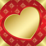 Romantic vector frame with heart and tracery Royalty Free Stock Photography