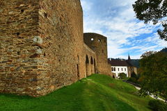 The romantic Velhartice Castle. Situated in the Bohemian Forest, the castle was owned by Bušek of Velhartice Royalty Free Stock Image