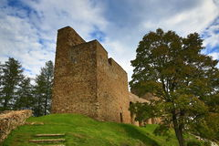 The romantic Velhartice Castle. Situated in the Bohemian Forest, the castle was owned by Bušek of Velhartice Stock Photo