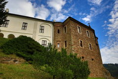 The romantic Velhartice Castle. Situated in the Bohemian Forest, the castle was owned by Bušek of Velhartice Royalty Free Stock Photography