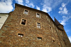 The romantic Velhartice Castle. Situated in the Bohemian Forest, the castle was owned by Bušek of Velhartice Stock Photos