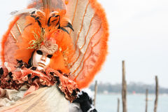 Woman in Venice carnival mask Stock Photo