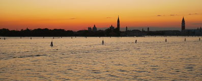 A romantic venetian sunset Royalty Free Stock Images
