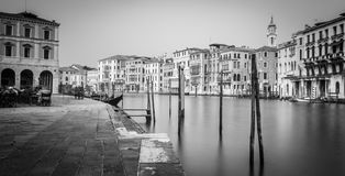 Romantic venice black and white Stock Images