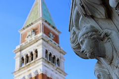 Romantic Venice. A view of the campanile in St Marks Square, Venice Royalty Free Stock Images