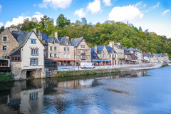 Romantic view of Dinan France Stock Photography