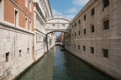 Romantic view of the famous bridge of sighs, Venice Royalty Free Stock Photography