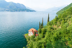 Romantic view on Lake Como in North Italy Stock Photos