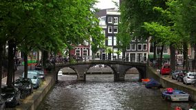 Romantic view from Leidsegracht to Gentlemens canal in Amsterdam City of Amsterdam stock video
