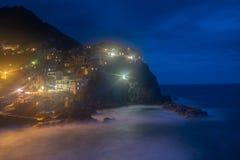 Romantic view of Manarola village Stock Photo