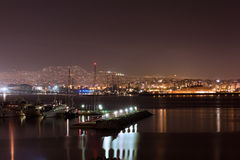 Romantic view of the port of Piraeus Royalty Free Stock Photography