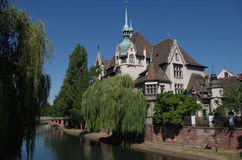 Romantic view of the river Ill - Strasbourg, France Stock Image