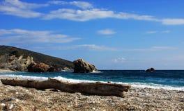 Romantic view of the sea on a shore in Mediterranean sea Stock Photos