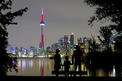 Romantic view on Toronto Skyline royalty free stock photo