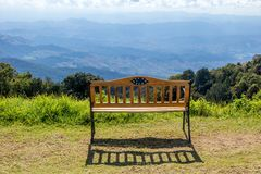 Free Romantic View With A Bench. Stock Photo - 133147920
