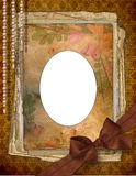 Romantic vignette. On the abstract background in scrapbooking style Royalty Free Stock Photos