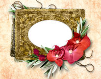 Romantic vignette. In scrapbooking style Royalty Free Stock Images