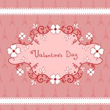 Romantic vignette with flowers, Valentines Day Stock Photos