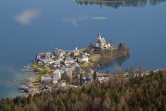The romantic village of Maria Wörth Stock Photography