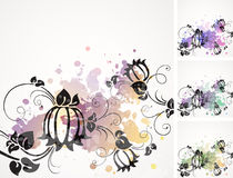 Romantic vintage background with flowers Stock Image