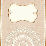 Romantic vintage border Royalty Free Stock Image
