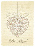 Romantic vintage card Stock Photo