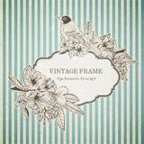 Romantic vintage card Stock Images