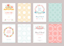 Romantic vintage cards collection Royalty Free Stock Photo
