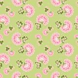 Romantic vintage flower seamless pattern. Seamless floral pattern of vintage flowers Stock Image