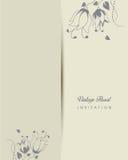 Romantic vintage invitation  illustration Royalty Free Stock Images