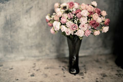 Romantic vintage rose bouquet. Stock Images
