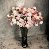 Romantic vintage rose bouquet. Stock Photo
