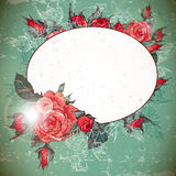 Romantic Vintage Rose Frame Royalty Free Stock Photos