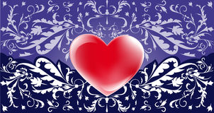 Romantic violet background  Royalty Free Stock Photos