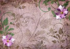 Romantic violet scrapbook background Royalty Free Stock Photos